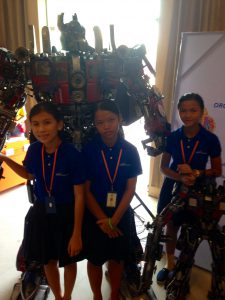 With the amazing robots